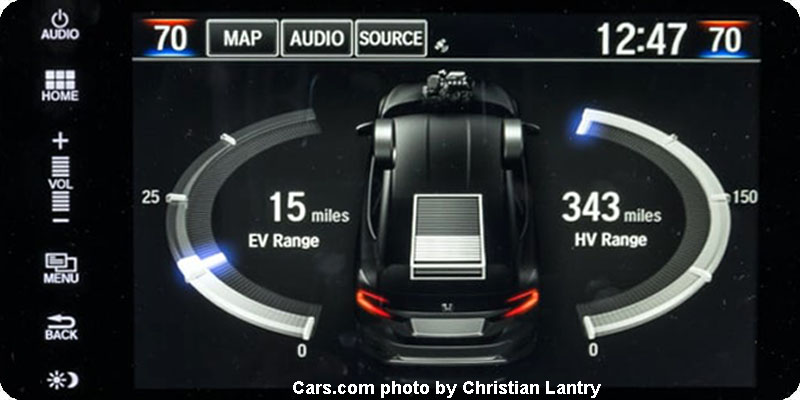 Photo of 2018 Honda Clarity Plug-In Hybrid range display